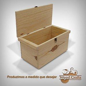 Caixa de Madeira com Tampa - Wood Crafts - 40x20x20cm
