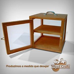 Caixa para Curar 02 Queijos - Wood Crafts - Madeira Demolição - 25x25x25 cm