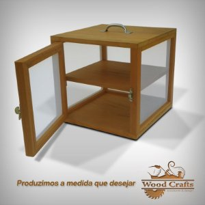 Caixa para Curar 02 Queijos - Wood Crafts - Madeira Demolição - 35x35x35 cm