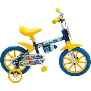 Bicicleta Infantil com Rodinhas Monster Masculina Aro 12 - Brink+