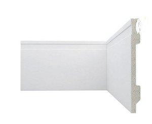 Rodapé Poliestireno Branco 20 cm Frisado- valor Br. 2,20 m