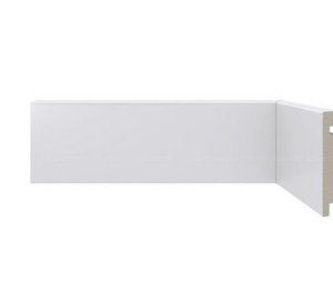 Rodapé Poliestireno Branco 7 cm LISO- valor Br. 2,40 ml