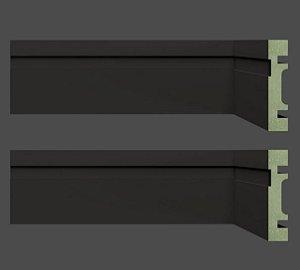 Rodapé Mdf PRETO 7 cm br. 2,40 ml - valor por ml-PROMOÇÃO