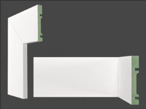 Rodapé Mdf Branco 10cm LISO br. 2,40m - valor por ml- PROMOÇÃO