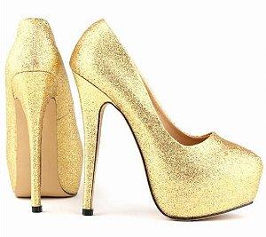 Sapato Salto Alto Estrela Brilhante