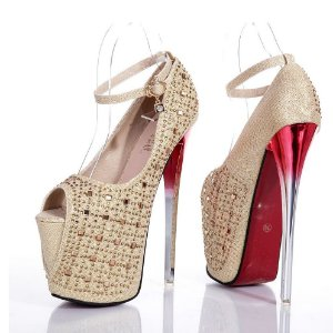 Sapato Salto Alto Diamante Luxuoso