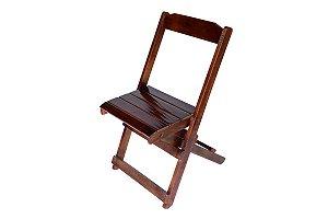 Cadeira de Madeira Dobrável com Acabamento Imbuía