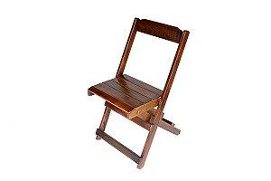 Cadeira de Madeira Dobrável com Acabamento Café