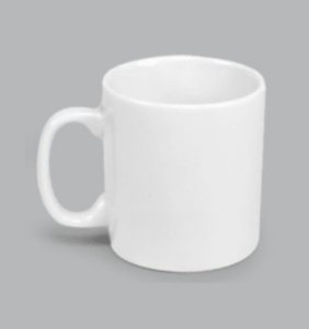 CANECA RETA BRANCA 230 ML - CAN030