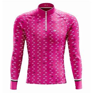 Camisa de ciclismo feminina manga longa Be Fast Classic Bikes