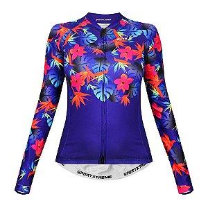 Camisa de ciclismo feminina manga longa SportXtreme slim California