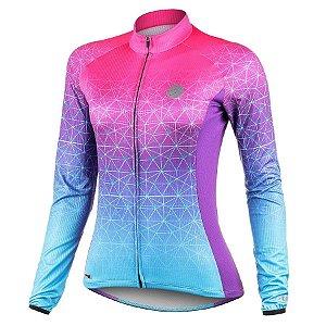 Camisa de ciclismo feminina manga longa Mauro Ribeiro Weft