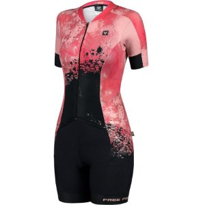Macaquinho de ciclismo feminino Free Force New Desert forro Invert Gel