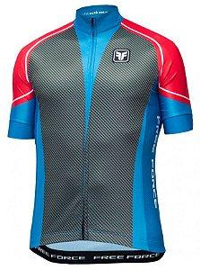 Camisa de ciclismo Carbon Vermelho - Free Force