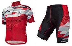 Conjunto de ciclismo Advance Vermelho - Free Force