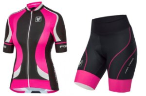 Conjunto de ciclismo feminino Princess Pink - Free Force