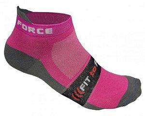 Meia de ciclismo Feminina Primary Rosa - Free Force