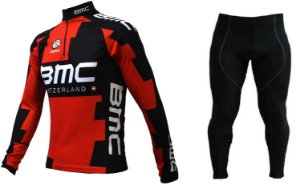Conjunto de ciclismo BMC (calça + camisa manga longa) - ERT Cycle Sport