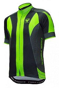 Camisa de ciclismo Blaster verde flúor - Free Force