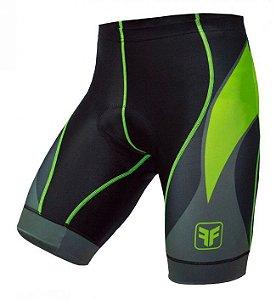 Bermuda de ciclismo Blaster verde flúor - Free Force