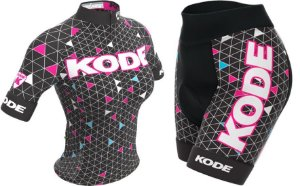 Conjunto de ciclismo feminino Geometric 2018 - Kode