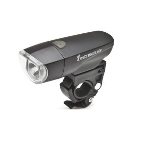 Farol para bike 1 Led Super 1 Watt Preto - High One