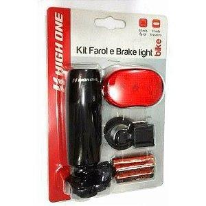Kit farol dianteiro 5 leds farol traseiro 3 leds - High One