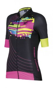 Camisa de ciclismo feminina Jelly Preta - Free Force