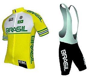 Conjunto de ciclismo Elite Seleção Brasileira 2018 - ERT