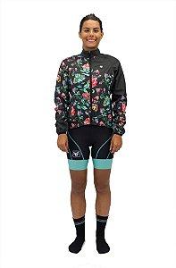 Jaqueta de ciclismo Feminina Corta Vento Fit Dark Free Force