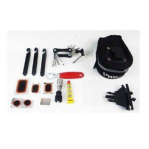 Kit ferramentas bicicleta 5 peças c/ bolsa selim WG Sports