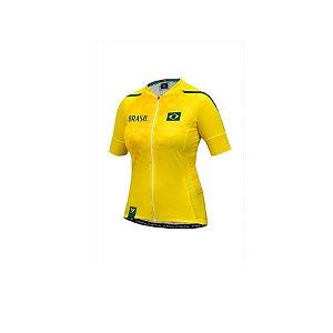 Camisa ciclismo feminina Free Force Brasil 2018