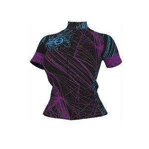 Camisa ciclismo feminina Purple ERT