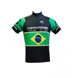 e13b31f80a Camisa ciclismo Cannondale Brasil Be Fast