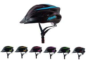 Capacete ciclismo Rava Mtb Space Led 2019 cores foscas