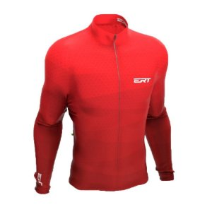 Camisa ciclismo manga longa ERT Red