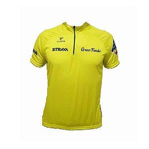 Camisa ciclismo Strava Gran Fondo masculina Be Fast