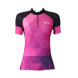 Camisa ciclismo feminina Be Fast Geometric