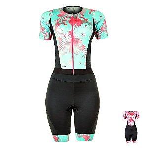 Macaquinho de ciclismo feminino Mauro Ribeiro Leaf