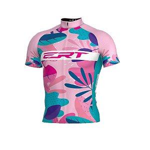 Camisa de ciclismo ERT Classic Floral rosa