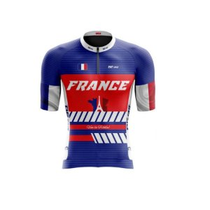Camisa de ciclismo masculina Classic France Be Fast