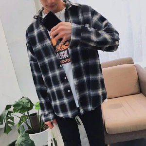 Camisa Social Masculina Xadrez - Algodão