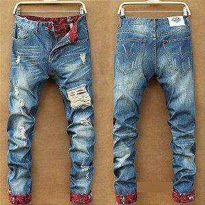 Calça Jeans Masculina Skinny Red Blue