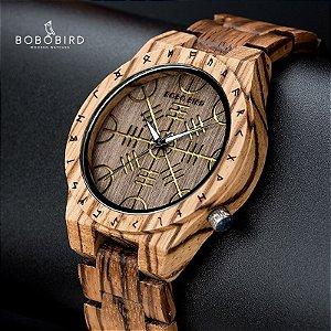 Relógio Feito em Bambu Mystic