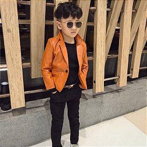 Blazer Masculino Infantil em Couro - 3 Cores