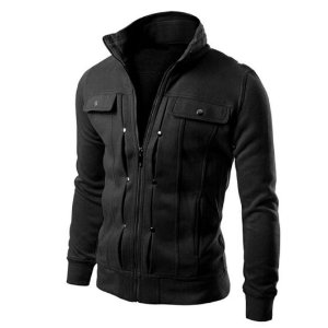 Jaqueta de Ziper em Moletom
