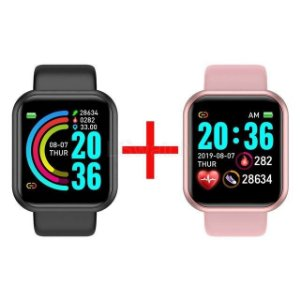 Kit com 2 - Relógio Eletrônico Smartwatch CF Y68