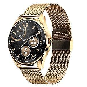 Relógio Inteligente Smartwatch Dourado GPS - 47mm