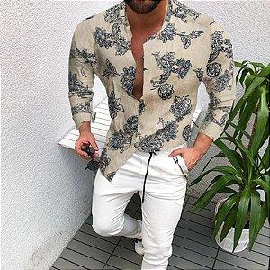 Camisa Masculina Manga Longa Stamped