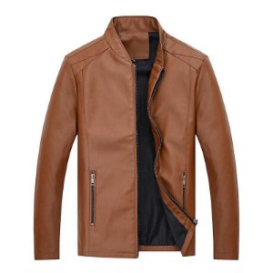 Jaqueta Masculina em Couro Slim Fit - 3 Cores
